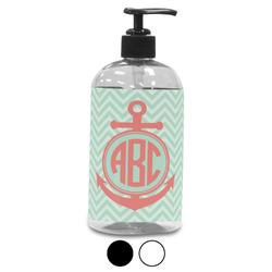 Chevron & Anchor Plastic Soap / Lotion Dispenser (Personalized)