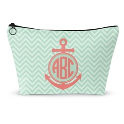 Chevron & Anchor Makeup Bags (Personalized)
