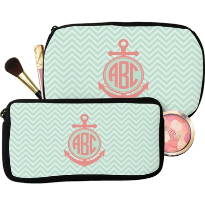 Chevron & Anchor Makeup / Cosmetic Bag (Personalized)