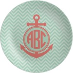 Chevron & Anchor Melamine Plate (Personalized)