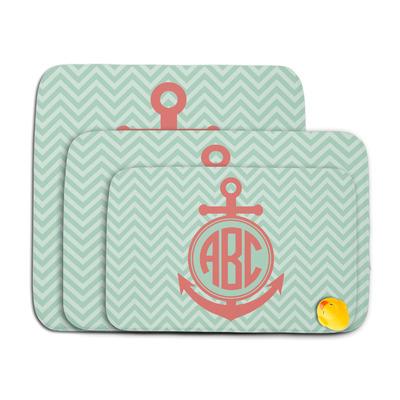 Chevron & Anchor Memory Foam Bath Mat (Personalized)
