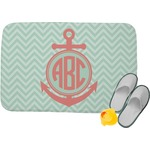 Chevron & Anchor Memory Foam Bath Mat (Personalized)