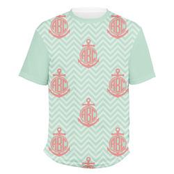 Chevron & Anchor Men's Crew T-Shirt (Personalized)