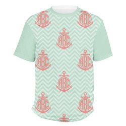 Chevron & Anchor Men's Crew T-Shirt (Personalized)