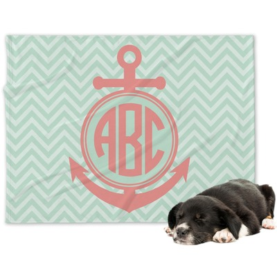 Chevron & Anchor Dog Blanket (Personalized)
