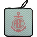Chevron & Anchor Pot Holder (Personalized)