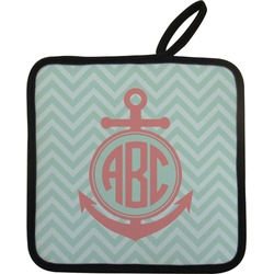 Chevron & Anchor Pot Holder w/ Monogram