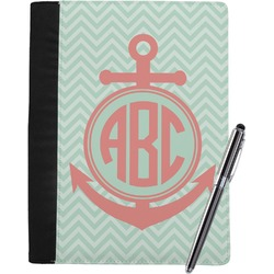 Chevron & Anchor Notebook Padfolio (Personalized)