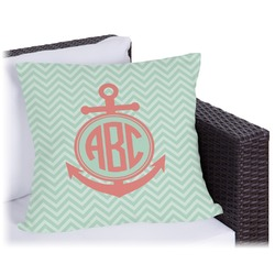 Chevron & Anchor Outdoor Pillow (Personalized)