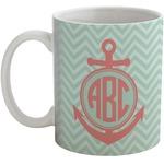 Chevron & Anchor Coffee Mug (Personalized)