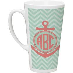Chevron & Anchor Latte Mug (Personalized)