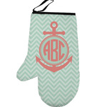 Chevron & Anchor Left Oven Mitt (Personalized)
