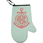 Chevron & Anchor Right Oven Mitt (Personalized)