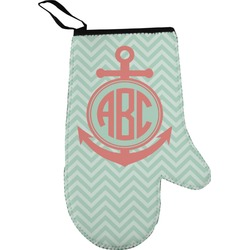Chevron & Anchor Oven Mitt (Personalized)