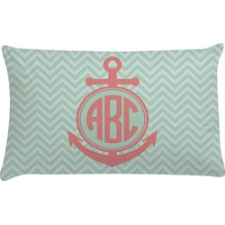 Chevron & Anchor Pillow Case (Personalized)
