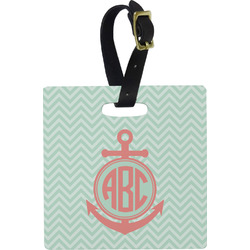 Chevron & Anchor Luggage Tags (Personalized)
