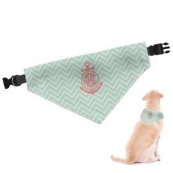 Chevron & Anchor Dog Bandana (Personalized)