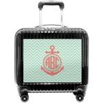 Chevron & Anchor Pilot / Flight Suitcase (Personalized)