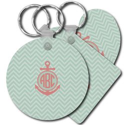 Chevron & Anchor Plastic Keychains (Personalized)