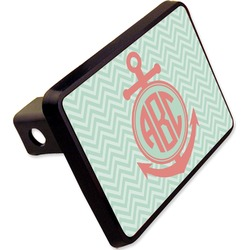 "Chevron & Anchor Rectangular Trailer Hitch Cover - 2"" (Personalized)"