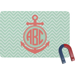 Chevron & Anchor Rectangular Fridge Magnet (Personalized)
