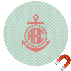 Chevron & Anchor Car Magnet (Personalized)
