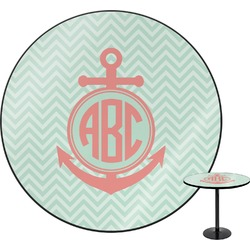 Chevron & Anchor Round Table (Personalized)