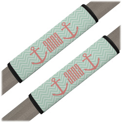 Chevron & Anchor Seat Belt Covers (Set of 2) (Personalized)