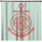 Chevron & Anchor Shower Curtain (Personalized)