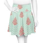 Chevron & Anchor Skater Skirt (Personalized)