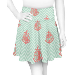 Chevron & Anchor Skater Skirt (Personalized)