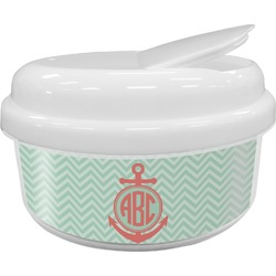 Chevron & Anchor Snack Container (Personalized)