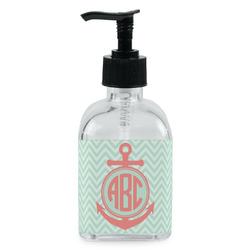 Chevron & Anchor Soap/Lotion Dispenser (Glass) (Personalized)