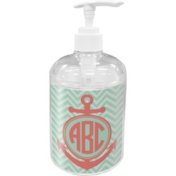 Chevron & Anchor Acrylic Soap & Lotion Bottle (Personalized)