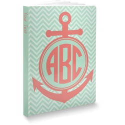 Chevron & Anchor Softbound Notebook (Personalized)