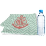 Chevron & Anchor Sports & Fitness Towel (Personalized)
