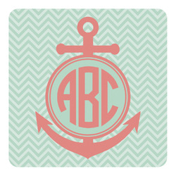 Chevron & Anchor Square Decal - Medium (Personalized)