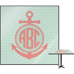 """Chevron & Anchor Square Table Top - 30"""" (Personalized)"""
