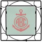 Chevron & Anchor Square Trivet (Personalized)