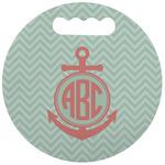 Chevron & Anchor Stadium Cushion (Round) (Personalized)