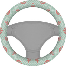 Chevron & Anchor Steering Wheel Cover (Personalized)