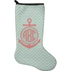 Chevron & Anchor Holiday Stocking - Neoprene (Personalized)