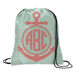 Chevron & Anchor Drawstring Backpack (Personalized)