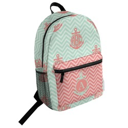 Chevron & Anchor Student Backpack (Personalized)