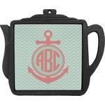 Chevron & Anchor Teapot Trivet (Personalized)