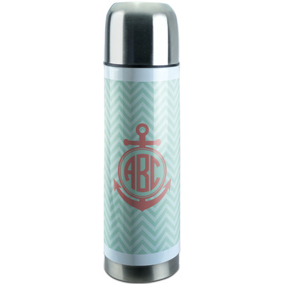 Chevron & Anchor Stainless Steel Thermos (Personalized)
