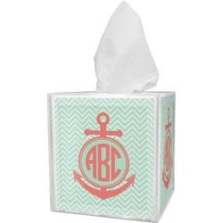 Chevron & Anchor Tissue Box Cover (Personalized)