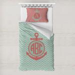 Chevron & Anchor Toddler Bedding w/ Monogram