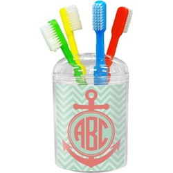 Chevron & Anchor Toothbrush Holder (Personalized)