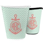 Chevron & Anchor Waste Basket (Personalized)